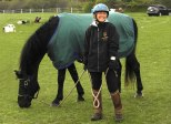 Patricia with her amazing Morgan, Flash.